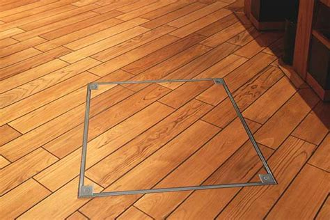 series howe green wood floor access cover trim