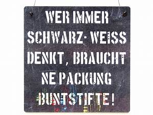 Schwarz Weiß Sprüche : xl shabby vintage schild t rschild wer immer schwarz weiss denkt ~ Orissabook.com Haus und Dekorationen