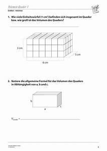 Volumen Berechnen übungen 6 Klasse : gr en und ma e arbeitsbl tter sekundarstufe i ~ Themetempest.com Abrechnung