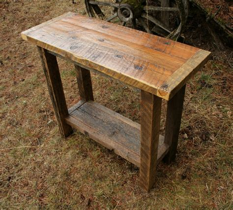 reclaimed wood sofa table reclaimed rustic barnwood console sofa table