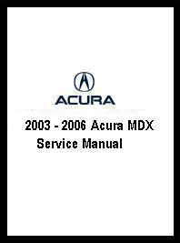 auto repair manual online 2003 acura mdx instrument cluster 2003 2006 acura mdx service manual