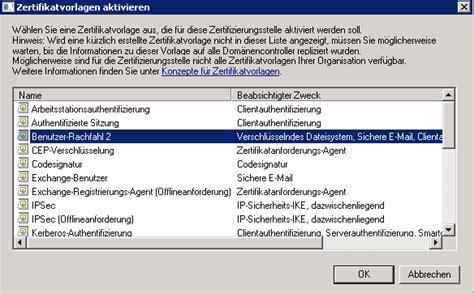 exblog aendern einer zertifikats vorlage einer windows