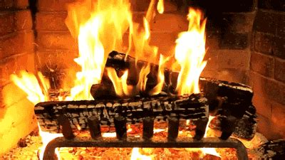 Animated Yule Log Wallpaper - yule log fireplace gif find on giphy