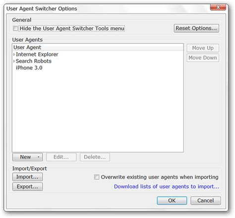 agent user string firefox change conclusion switcher