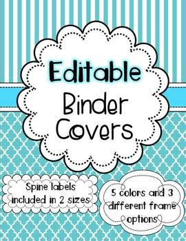 editable binder cover templates the enlightened elephant teaching resources teachers pay teachers