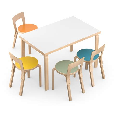 Rectangular Table And Chair 3d Model