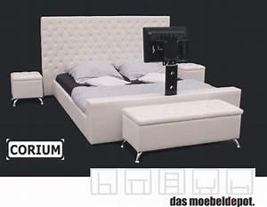 Doppelbett 180x200 Weiß : lederbett doppelbett bett 180x200 wei tv halterung ebay ~ Frokenaadalensverden.com Haus und Dekorationen