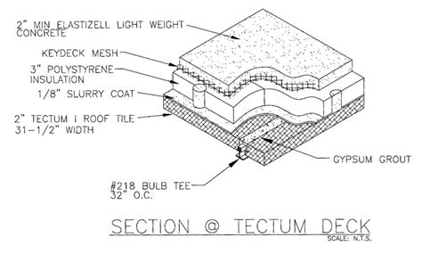 Tectum Deck Bulb Tees by Deck With Covered Roof Deck Design And Ideas