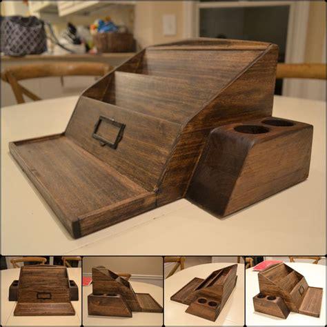 wooden poplar desk organizer woodworking projects