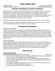 Cover Letter Aerospace Engineer Aircraft Maintenance And Quality Assurance Resume
