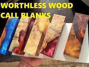 Alumilite casting Worthless wood into Call blanks for duck