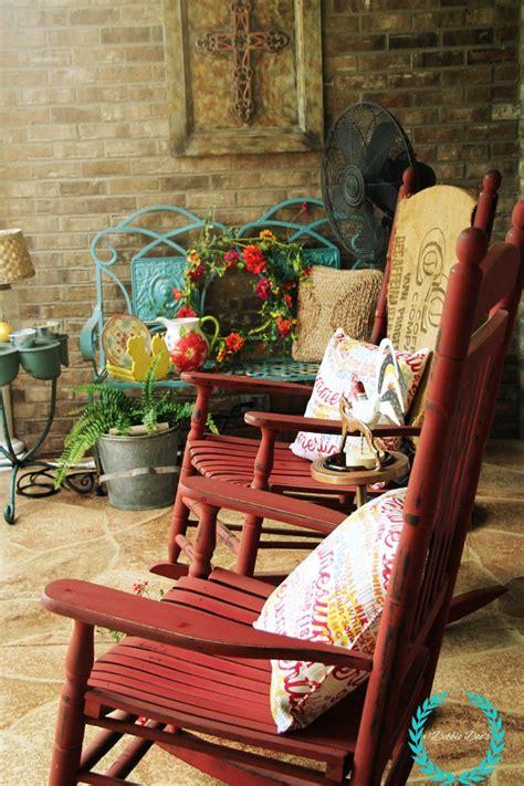 patio  porch decorating  diy ideas debbiedoos