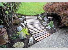 A pallet wood garden walkwayFunky Junk Interiors