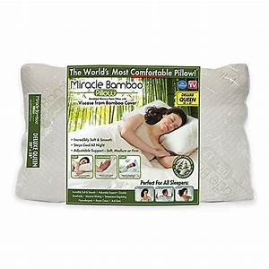 Miracle deluxe pillow bed bath beyond for Bed bath and beyond miracle bamboo pillow