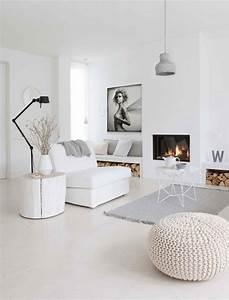Toile Deco Salon : mon int rieur immacul de blanc blog izoa ~ Teatrodelosmanantiales.com Idées de Décoration