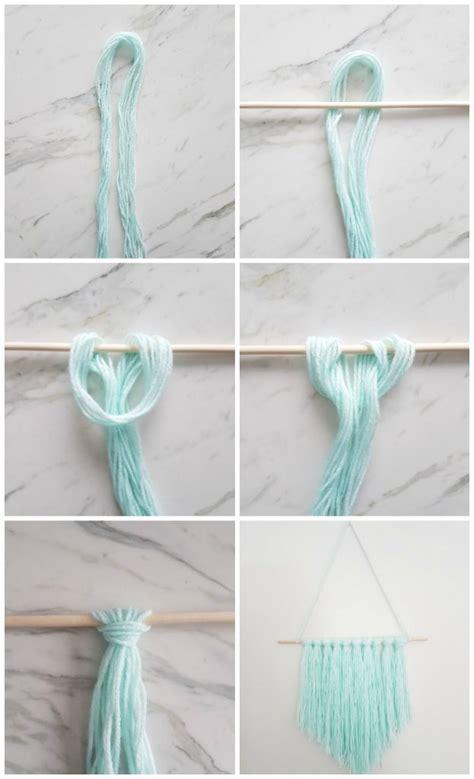 easy diy wall hanging  yarn