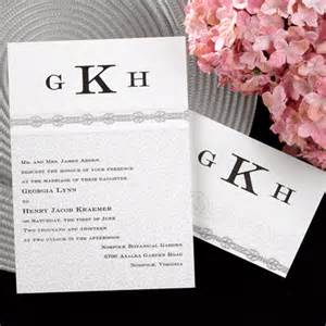 custom invitation monogram wedding invitations custom personalized monogrammed