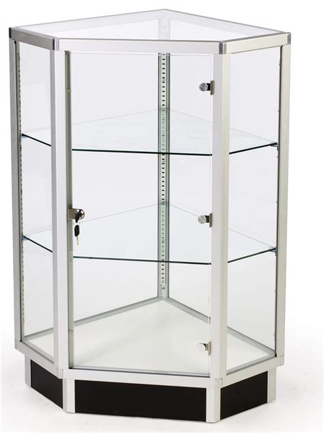 corner cabinet with glass doors glass cabinets 28 quot corner display w hinged door