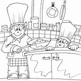 Chef Coloring Pages Cooking Colouring Printable Chefs Drawing Fat Printables Getcoloringpages Utensils Getdrawings Apron sketch template