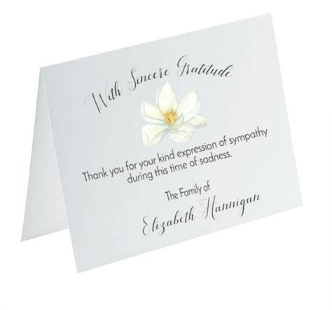 funeral   cards sympathy acknowledgement cards