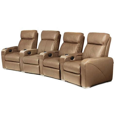 premiere home cinema seating 4 seater taupe cinema