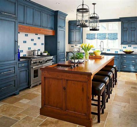 beautiful royal blue kitchen im