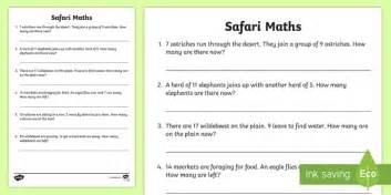 safari themed maths word problems mixed to 21 safari safari maths