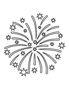 fireworks pattern   printable outline  crafts