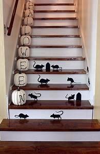Contre Marche Deco : escalier contre marches peintes rats d co petit mobilier rangement halloween ~ Dallasstarsshop.com Idées de Décoration