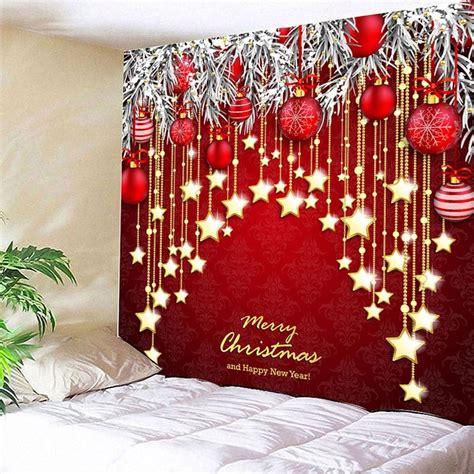 christmas ball  star print wall hanging tapestry