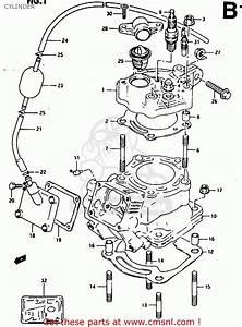 Suzuki Rg125fu 1992  N   E02 E04  Cylinder