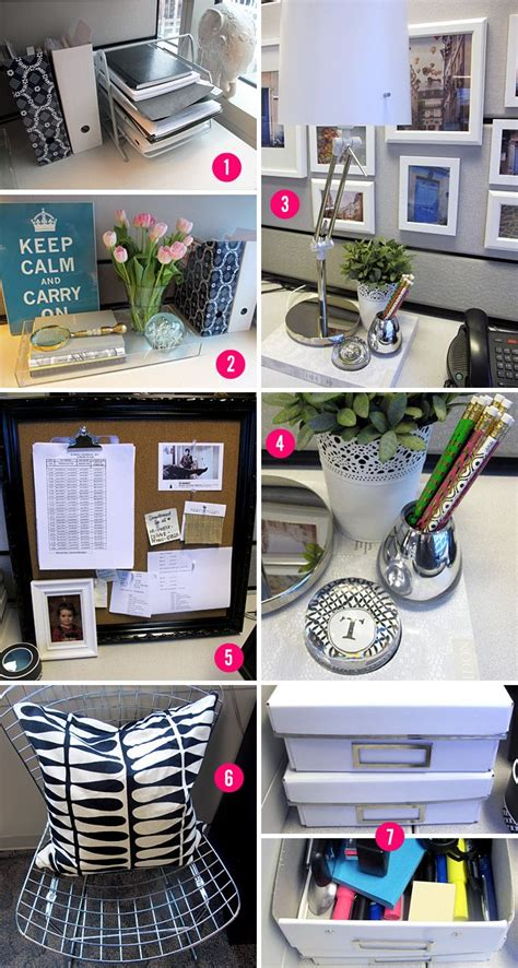 How To Decorate Office - your cubicle space can be pretty and inspiring cubicle