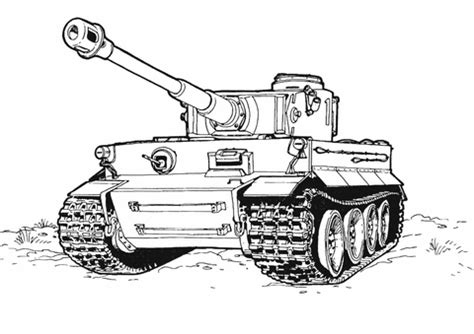 tiger tank coloring page  printable coloring pages