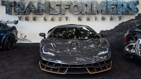 lamborghini transformer the last knight the lamborghini centenario at the transformers the last