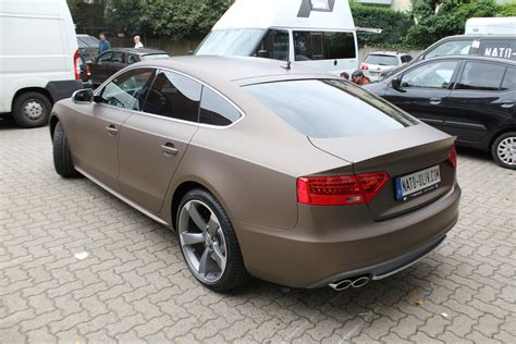 Audi S5 In Braun Matt Metallic
