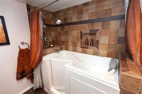 exceptional walk  shower tub combo ideas decohoms