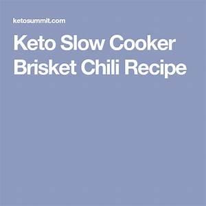 Keto Slow Cooker Brisket Chili