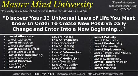 learn   universal laws  thought   apply