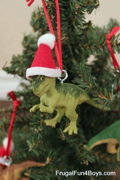 turn toy dinosaurs  christmas ornaments dinosaur