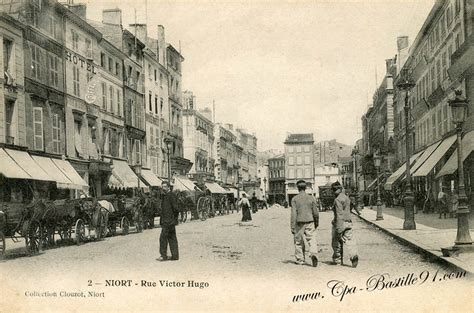 bureau de poste niort niort la rue victor hugo collection clouzot cartes