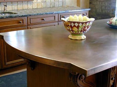 bar top kitchen island how to choose a metal countertop for your kitchen 4313
