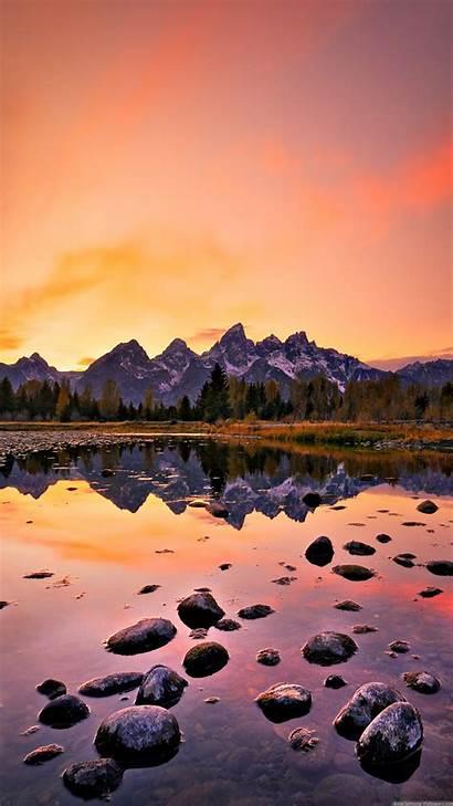 Iphone Mountain Sunset Lake Nature Wallpapers Iphonewalls