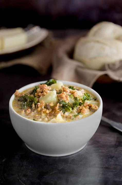 copycat olive garden zuppa toscana soup  cozy cook
