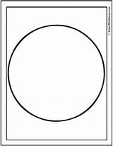 Coloring Circle Shape Circles Printable Squares Colorwithfuzzy Pdf sketch template