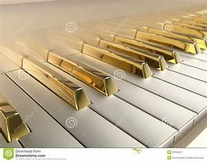 Gold Piano Royalty Free Stock Photo - Image: 29195275
