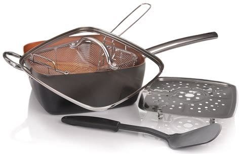 pan copper cookware amazon pans piece rated deep square chef frying coupon code stick non lid glass fry