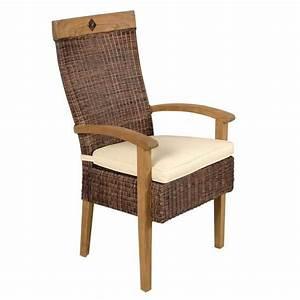Coussin Fauteuil Rotin : fauteuil coussin en moelle de rotin et teck cir achat vente fauteuil mati re du ~ Preciouscoupons.com Idées de Décoration