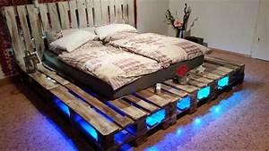 Paletten Bett Selbst Gebaut Ramona Pinterest Selbst