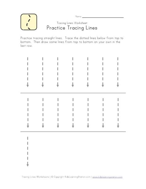 worksheet for tracing vertical lines tracing vertical lines education printable worksheet