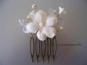Peigne Cheveux Mariage : peigne mariage fleur ivoire et or boh me ~ Preciouscoupons.com Idées de Décoration